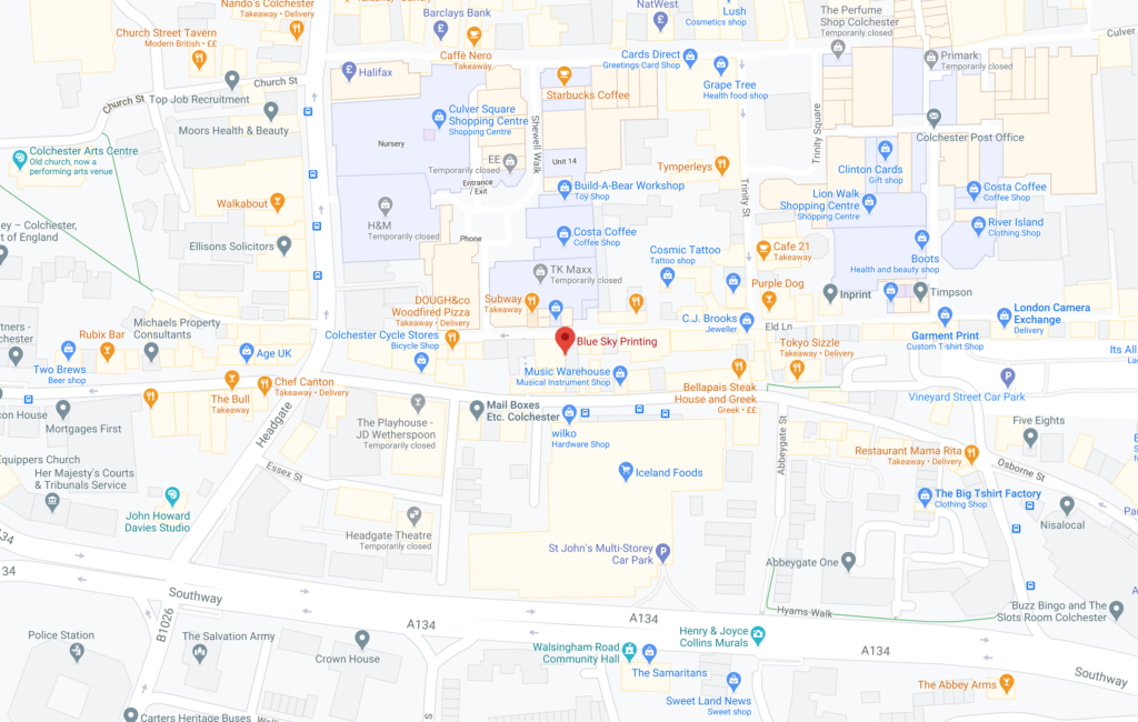 Google map of the Colchester shop
